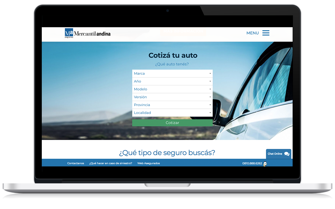 Mercantil andina website